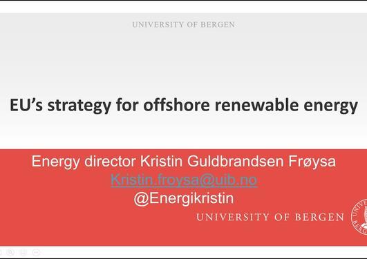 Webinar: EU's strategy for offshore renewable energy