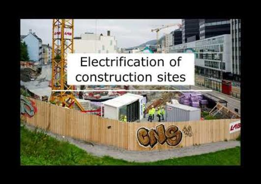 Energy for emission free building and construction sites