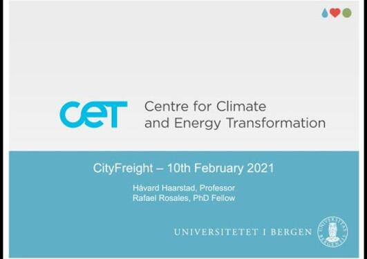Sustainable logistics in Norwegian cities - the Cityfreight project
