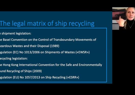 Webinar: Master thesis presentation about ship recycling