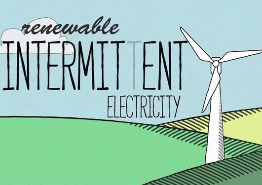 Can intermittent renewable energy power societies?