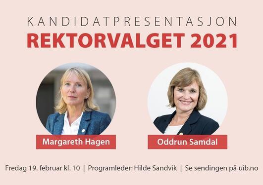 Kandidatpresentasjon og valgmøte – rektorvalget 2021