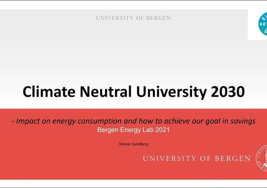 Climate Neutral University 2030