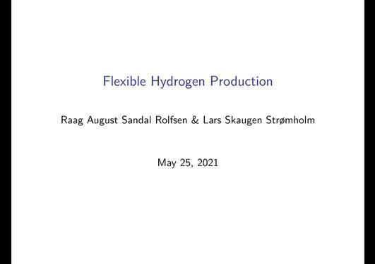 Flexible hydrogen production