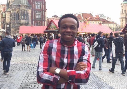 Bachelorstudent Jean-Marc Tshona