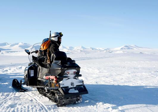 Snowmobile on Svalbard