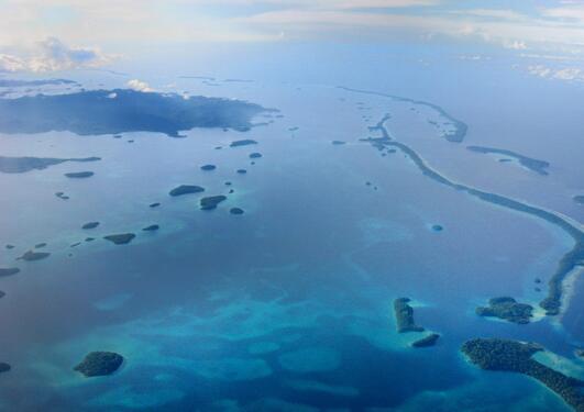 Marovo-lagunen på Salomonøyene