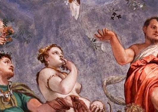 Utsnitt av måleriet «Hyman, Juno og Venus» av Paolo Veronese