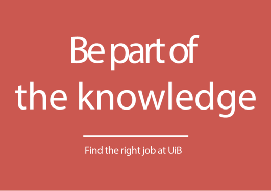 Be part of the knowledge - Find the right job at UIB
