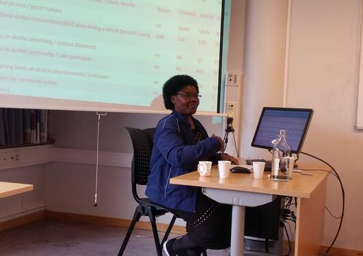 Joyce Nalugya presenting group work