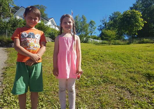 Barn fra Krokusbakken barnehage