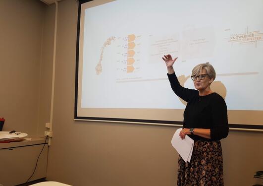 Fimreite presenting