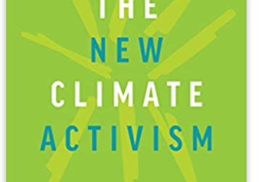 """Book cover: Green background with """"The New Climate Activism"""" written on it."""