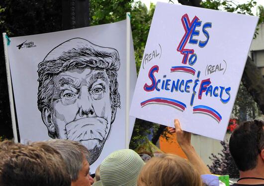 Protest mot Donald Trump