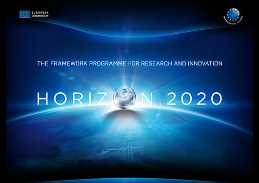 Logo of Horizon 2020, the new EU research funding programme