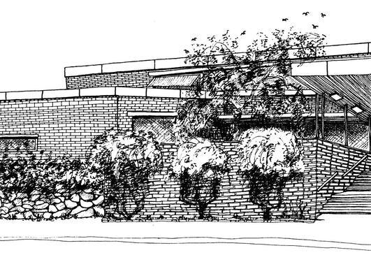 Illustrasjon av bygningen til Institutt for samfunnsforskning
