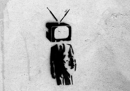Illustrasjon: Street art, verk av Bansky