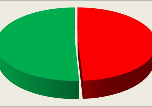 pie chart 50 percent