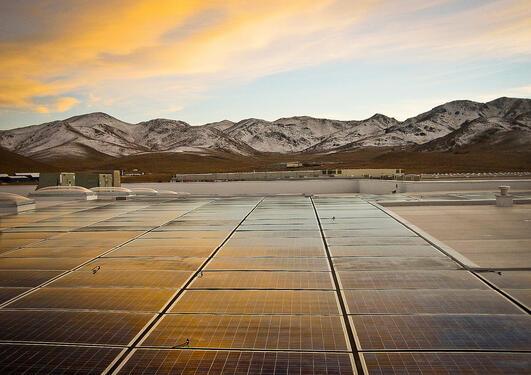 Black Rock Solar photovoltaic array