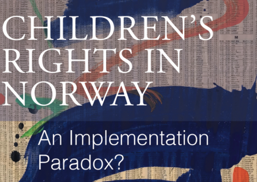 Part of book cover of Children's rights in Norway