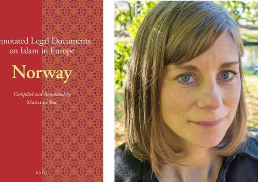 Bilde av bokomslag og forfatter