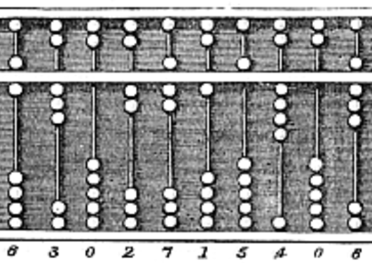 Abacus (wikimedia commons: https://commons.wikimedia.org/wiki/File:Abacus_6.png)