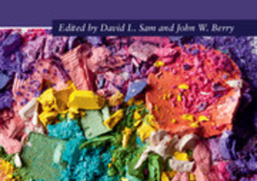 Colorful book cover with the text The Cambridge Handbook of Acculturation Psychology
