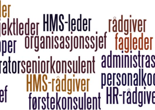 Ulike stillinger innenfor stillingskategorien administrasjon og personal