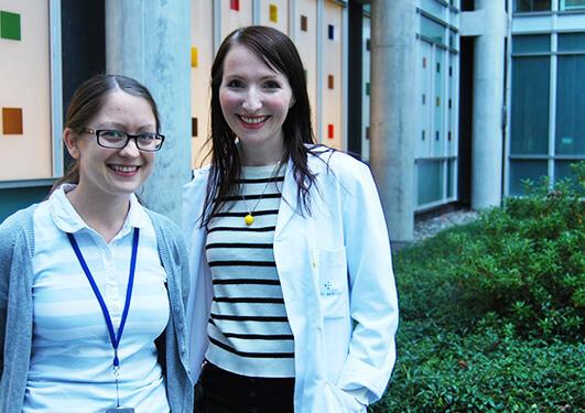 Stipendiat Maria Omsland (t.v.) og postdoktor Agnete Engelsen