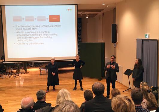 Gerd Tinglum, Cecilie Ohm, Tore Tungodden og Kathrine Brosvik Thorsen