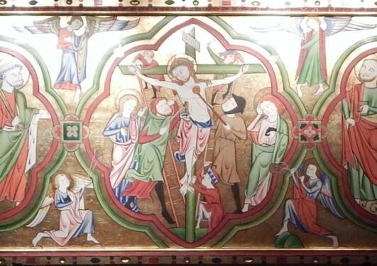 Bilde av alterbordforside i Kinsarvik kirke