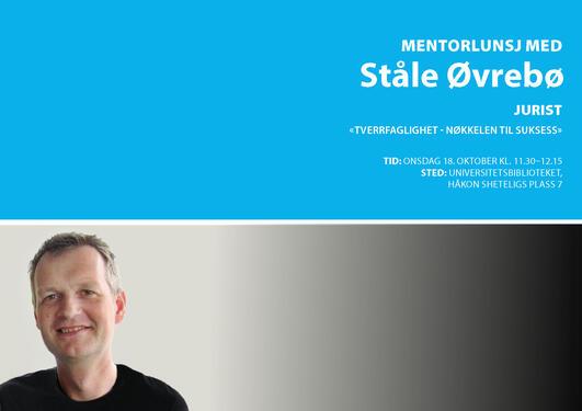 Alumni-mentor Ståle Øvrebø