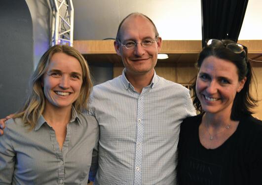 Anne-Grete, Einar og Heidi fortalte om sine jobbar som reservoarteknikar i Statoil, sykkelsjef i Bergen kommune og miljøsjef i Oslo havn.
