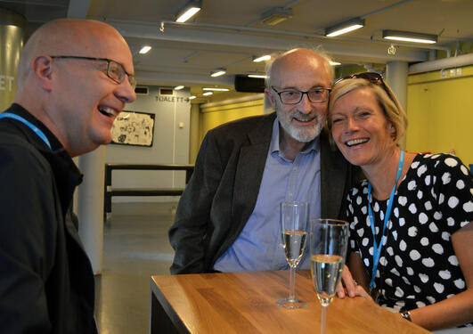 Stig-Erik, Knut Bjørn og Grete.