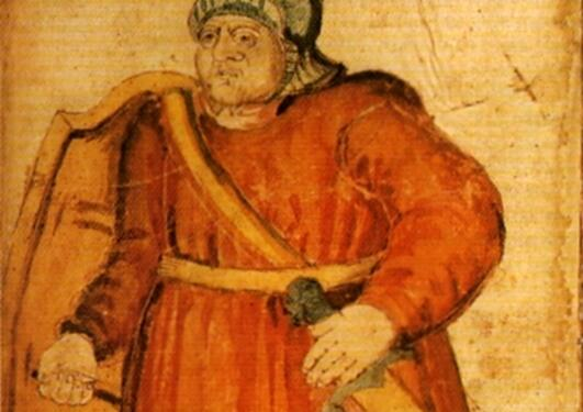 Grettir in the 17-th century manuscript AM 426 fol., The Árni Magnússon Institute, Reykjavík