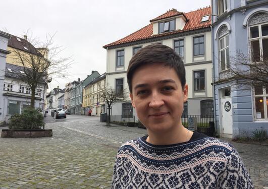 Anna Szolucha, Institutt for sosialantropologi, Universitetet i Bergen (UiB), portrettfoto mars 2017.