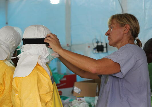 Anneli Eriksson working for MSF in Monrovia