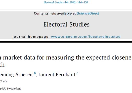 Artikkel i Electoral Studies