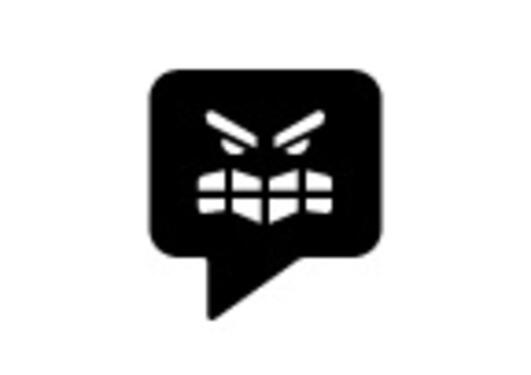 The icon illustrates a speech bubble that poses a threat.