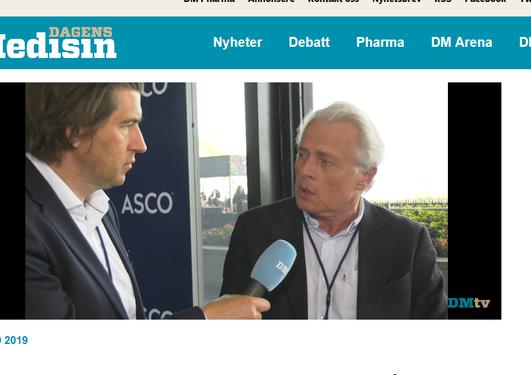 Lønning intervjues av Dagens Medisin