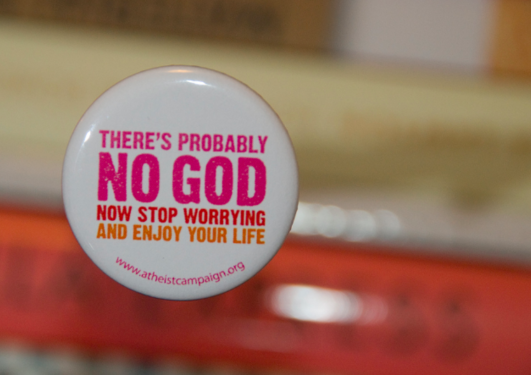 Atheism campaign UK badge