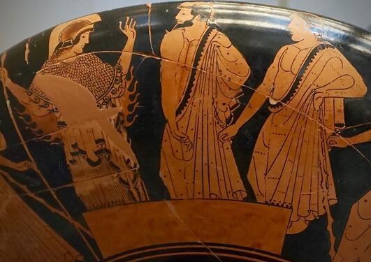 Vasemaleri som viser scene fra historien om Akilles
