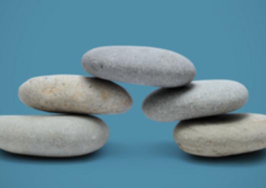 Balancing stone bridging the gap