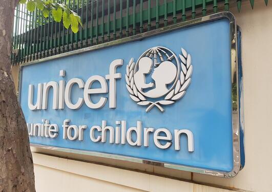Unicef sign, Bankok