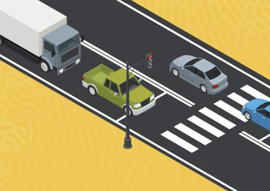 Illustration of a highway intersection.