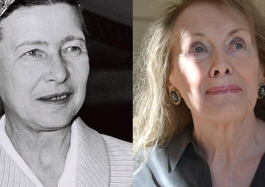 Simone de Beauvoir og Annie Ernaux