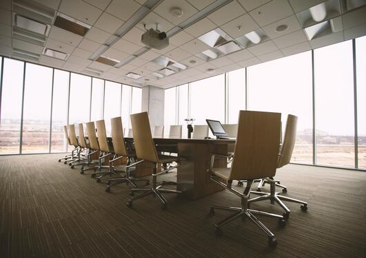 Empty meeting/board room