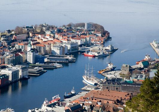 The city of Bergen, Norway