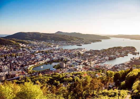 View over Bergen