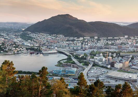 Utsikt mot Bergen sentrum